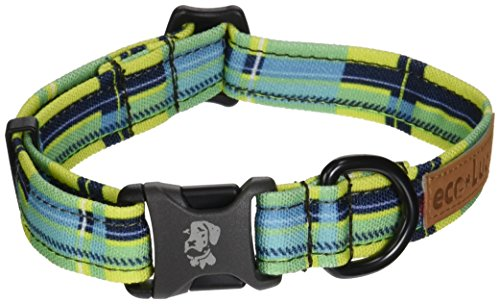 Dublin Dog Co Eco Lucks Hampton Dog Collar, Montauk, 10 by 15-Inch, Small