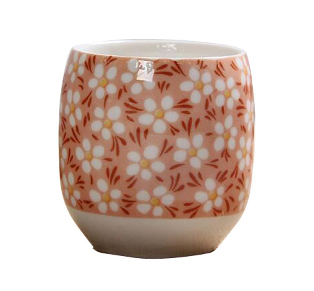 DRAGON SONIC Set Of 4 Retro Sake Cups Ceramics Cup Household Use/Restaurant Tea Cup-C2