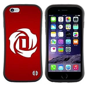 """Hypernova Slim Fit Dual Barniz Protector Caso Case Funda Para Apple Iphone 6 Plus / 6S Plus ( 5.5 ) [Carta minimalista D Drácula""""]"""