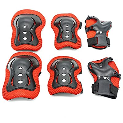 Kids Protective Gear,Knee Pads Elbow Pads Wrist Guards 3 In 1 set For Inline Roller Skating Biking Sports Safe Guard by Ouderstech