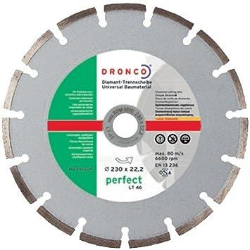 DRONCO LT 46 Diamant-Trennscheibe 115 x 22,23 für Beton Narturstein Ziegel