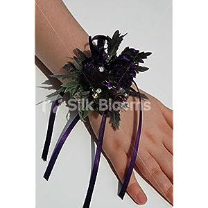 Scottish Inspired Dark Purple Thistle & Allium Wrist Corsage 46