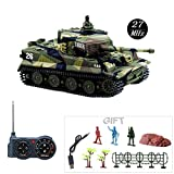 Fun-Here Mini RC Tank with USB Charger Cable Remote Control Panzer Tank 1:72