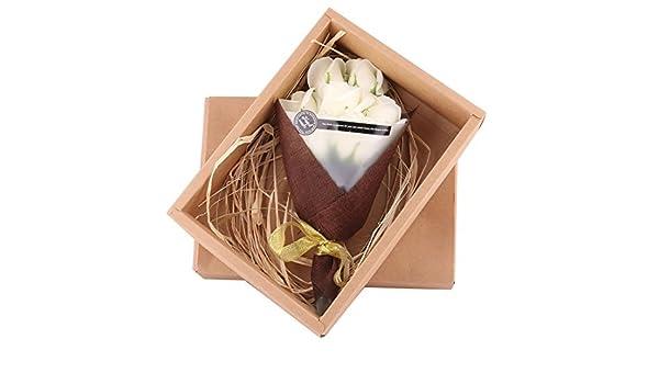 Amazon.com: eDealMax Regalo de cumpleaños artificiales de Rose Floral de Lavado de baño de jabón ramo de Flores 7pcs Beige: Home & Kitchen