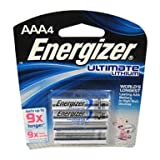 Energizer Lithium Battery Size AAA Blister Pack 4