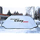 GoodsToGo Presents: The Windshield Cozy Snow Cover/Sunshade Protector With 3 x Strong Magnets At Bottom For Windproof, Weather Resistance, Snow, Ice, Frost, UV Rays Proof, Windshield Protector. Large Sizes Available For Van, SUV, Truck