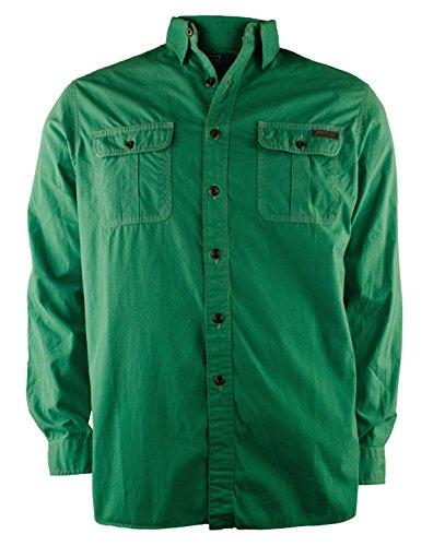 Polo Ralph Lauren Men's Overland Canvas Workshirt Shirt-G-L - Men Elbow Patch Shirt