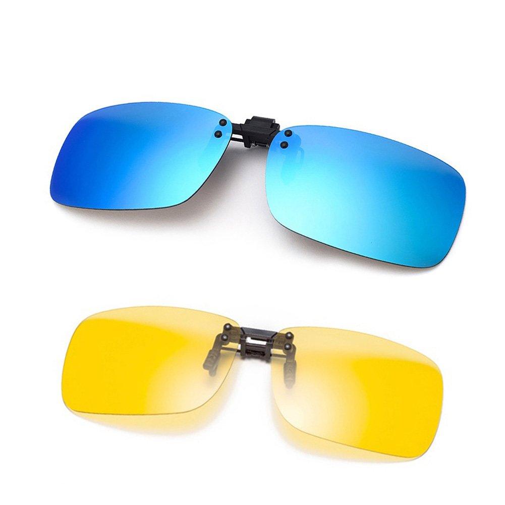 Cyxus [2 Paquetes (Clip On) Gafas polarizadas,Hombres/Mujeres sin Aros al Aire Libre Gafas de protección para esquí/Bicicleta/Correr/Conducir/Golf, ...