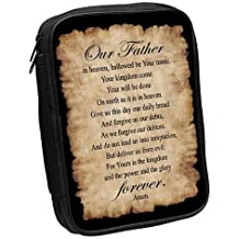 Lord's Prayer Fabric Large Black Bible Cover