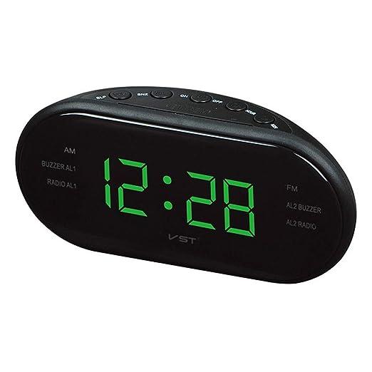 LMSHM Despertador Reloj De Led Radio Electrónico Escritorio Alarma ...