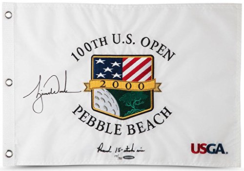 TIGER WOODS Autographed 2000 US Open Inscribed