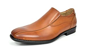 Bruno MARC DP01 Men's Loafers Dress Classic Formal Oxfords Slip On Leather Lining Modern Shoes BROWN SIZE 9.5