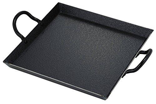 시모무라기 기판 가스 렌지용 플레이트 섬유 라인 가공 철제  31.3×24×5.3cm 일본제(MADE IN JAPAN) 35583