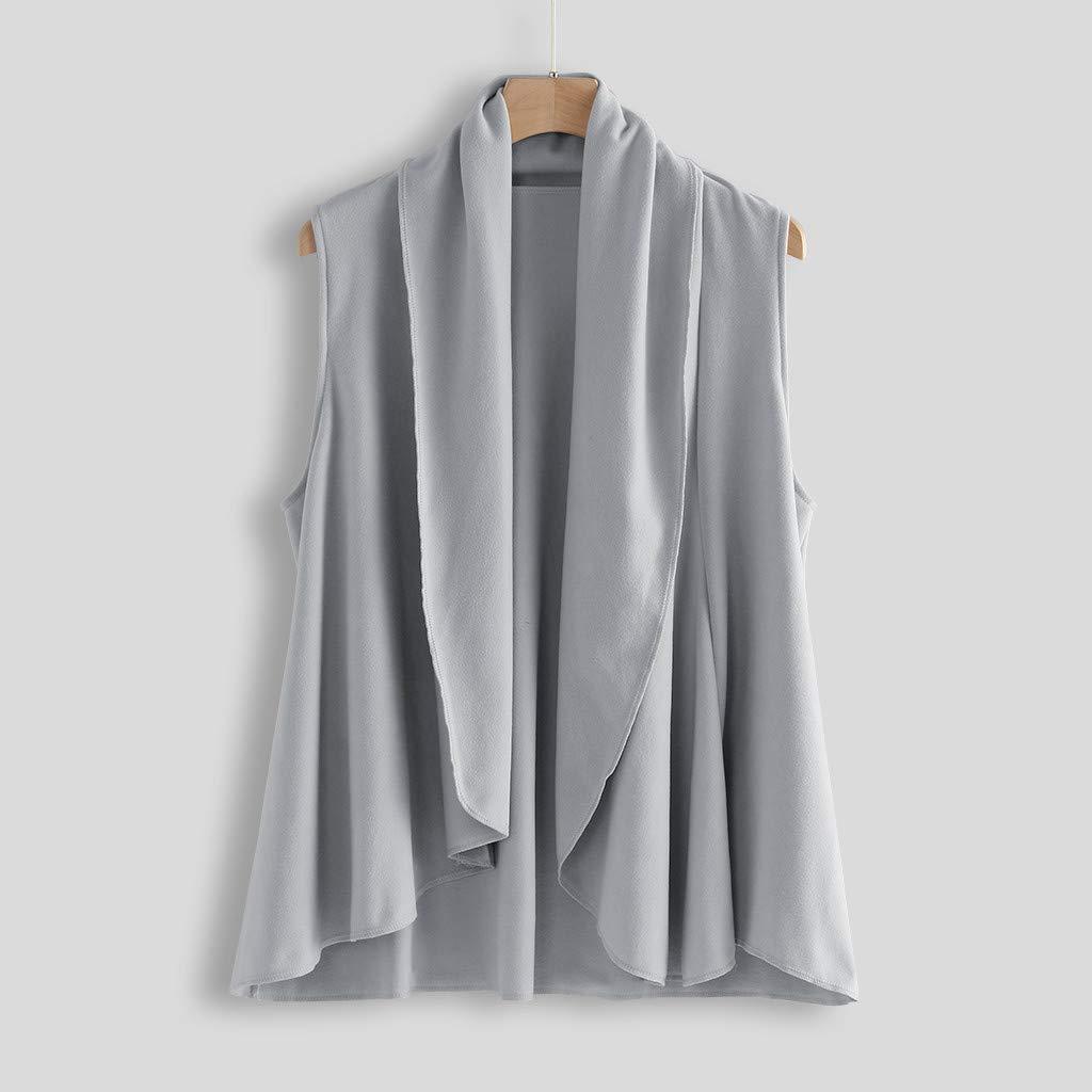 URSING Weste Damen Poncho Jacken Sweatshirts Offene Cardigan Kimono Kurz Unregelm/ä/ßiger Outwear Bodywarmer Vest Elegant Freizeit Lapel Coat M/äntel M/ädchen Teenager