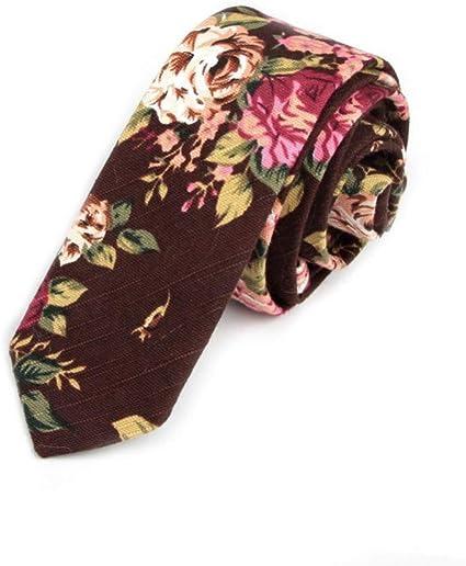FDHFC Corbata De Algodón Corbata Pitillo para Hombre Letra Cravat ...