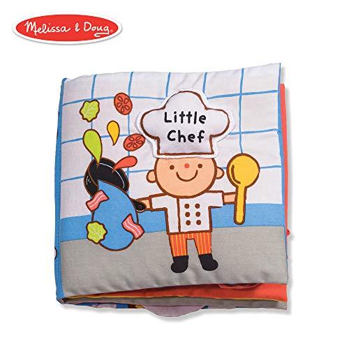 Melissa & Doug Soft Activity Book - Little Chef (Developmental Toys, Interactive Cloth Lift-the-Flap Baby Book, Machine Washable) ()