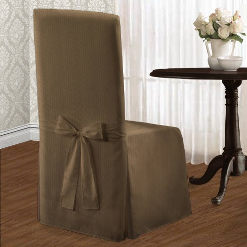 United Curtain Metro Dining Room Chair Cover, 19 by 18 by 42-Inch, Taupe (Suites Dinning Room)