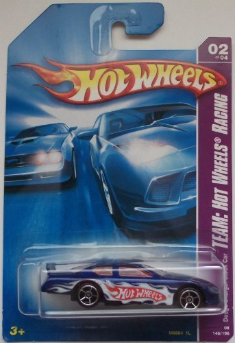 Dodge Charger Stock - Hot Wheels Team: Hot Wheels Racing Dodge Charger Stock Car Blue #146/196