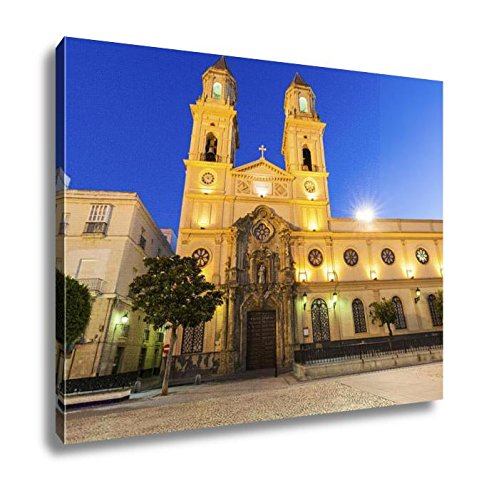 Ashley Canvas San Antonio Church In Cadiz Cadiz Andalusia Spain, Home Office, Ready to Hang, Color 20x25, AG6515443 by Ashley Canvas
