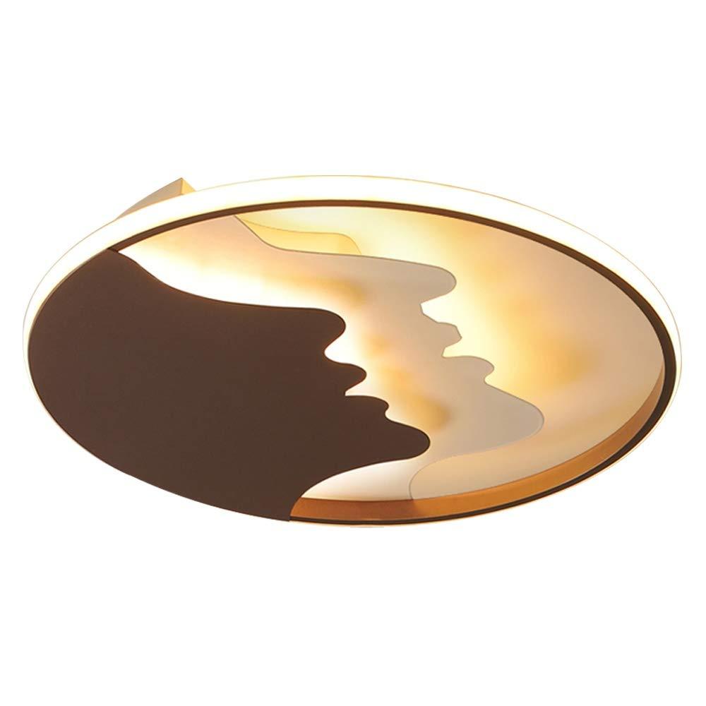 60cm Runde LED Kreativ Design Deckenleuchte Fernbedienung Dimmbar Wohnzimmer Schlafzimmer Flur Balkon Schwarz Deckenlampe Modern Innen Ring Hause Dekoration Beleuchtung, 60cm