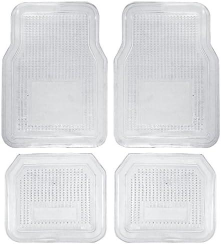 BDK Universal Fit Car Interior Protector Floor Mat – Vinyl Rubber (Clear)