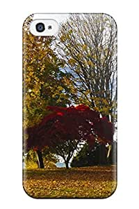 Iphone 4/4s Case, Premium Protective Case With Awesome Look - Fall Season Photography Trees Autumn Seasons Coast West People Photography