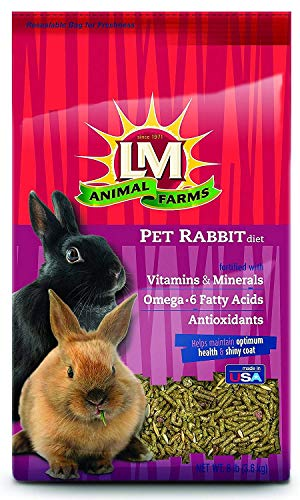 L/M Animal Farms Slm12114 4-Pack Rabbit Diet Food, 8-Pound