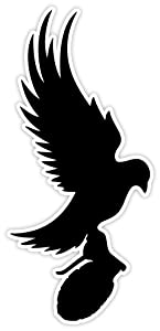 """Dove And Grenade Hollywood Undead sticker decal 3"""" x 6"""""""