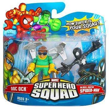 (Marvel Superhero Squad Hasbro Series 6 Mini 3 Inch Figure 2-Pack Black Spider-Man & Doc Ock)