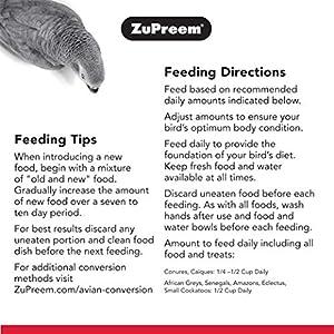 ZuPreem Comida para pájaros