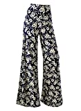 Arrisol Women's Stretchy Wide Leg Palazzo Lounge Pants (X-Large, Floral 4)