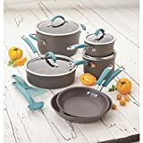 Rachael Ray Cucina Hard-anodized Nonstick 12-piece Cookware Set (Agave Blue)