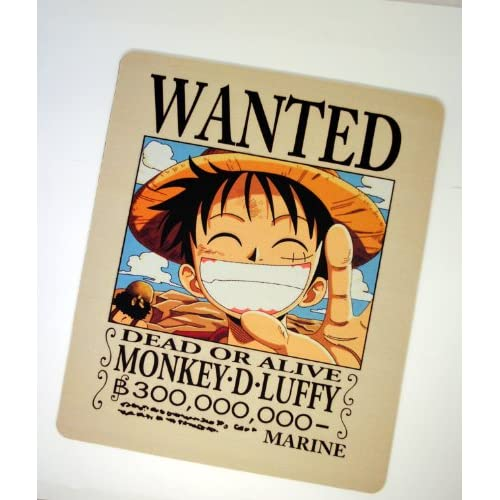 durable service Anime One Piece Luffy Wanted Mouse Pad