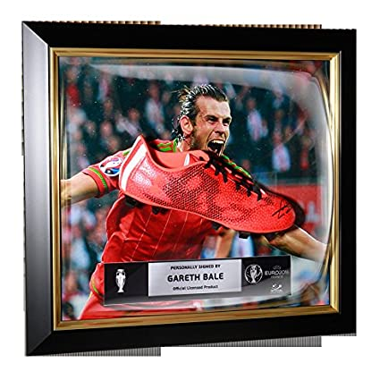 e9ea7ecb8a8c Gareth Bale Official UEFA EURO 2016 Autographed Signed and Framed adidas  F50 adizero FG Boot - Certified Authentic Soccer Signature at Amazon s  Sports ...