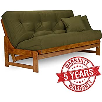 Amazon.com: Nirvana Futons Tri-Fold Wood Futon Frame Full ...
