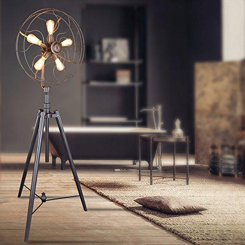 Ventilator wohnzimmer schlafzimmer Stehleuchte Studie kreative retro Industrielle amerikanischen Dorf 5 head Art Stehleuchte