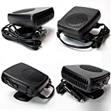 12v auto heater defroster - Portable Car Fan Heater ixaer Heater Defroster with 12V 150W Swing-out Handle 2 in 1 Handy Winter Auto Electronic Windscreen Heater Fan Defroster Demister - Blow Natural Wind