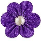 Bond & Co Fun Felt Flower Cat Collar Accessory, One Size Fits All, Purple