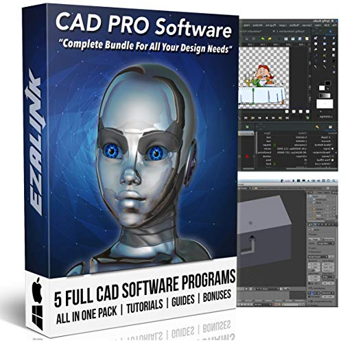 CAD Software 3D 2D Design Animation Modeling Drawing Drafting Architecture Viewer for Beginner & Pro Windows / Mac 2019 {2 DVD Set}