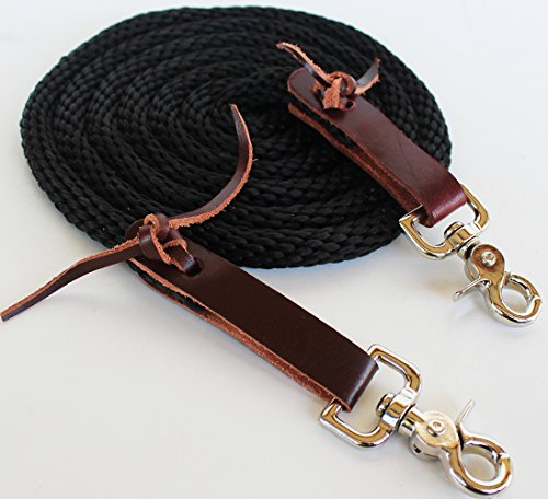 Braided Nylon Tack - PRORIDER Horse Roping Tack Western Barrel Contest Reins Nylon Braided Snap 7' Tack 607492BR