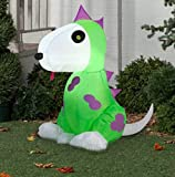Airblown Inflatable Halloween Dog In Dinosaur Costume Yard Decor 3.5' Tall by Gemmy