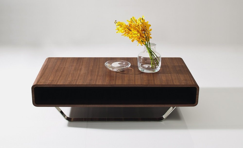 J&M Furniture Modern Walnut Coffee Table 136A