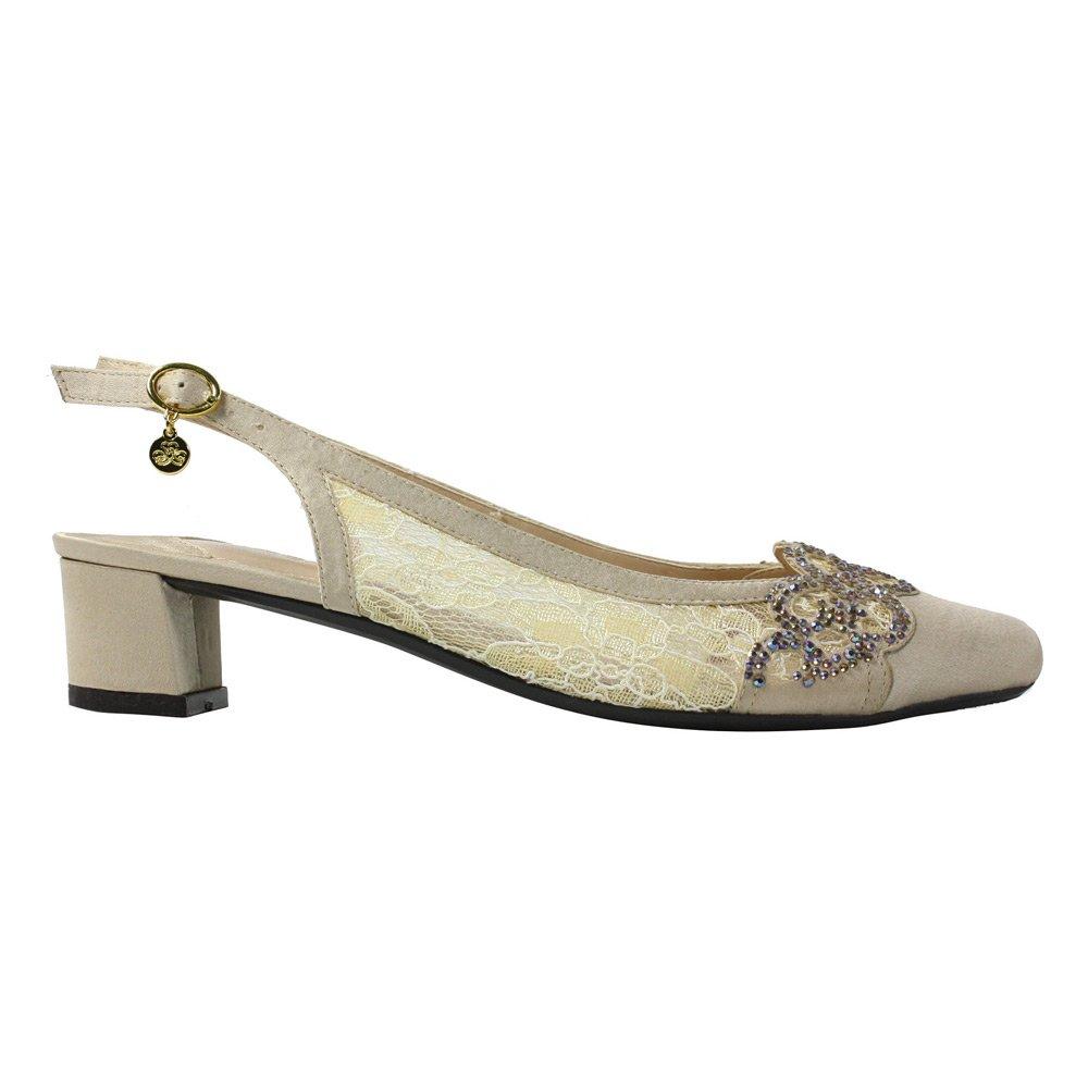 Renee Womens Faleece Low Block Heel Slingback J