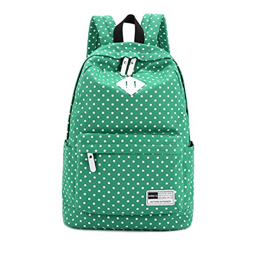 Printed Rucksack 15 Bag Green Dot Polka 6 inch Laptop Sq1YS