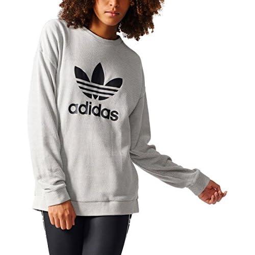 chollos oferta descuentos barato adidas Trefoil Sweater Sudadera Mujer Gris Medgre 32