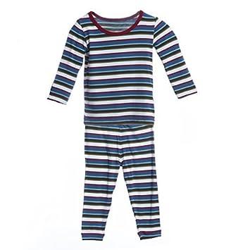 06f39d753 Amazon.com  KicKee Pants- Print Long Sleeve Pajama Set- Boy Bobsled ...