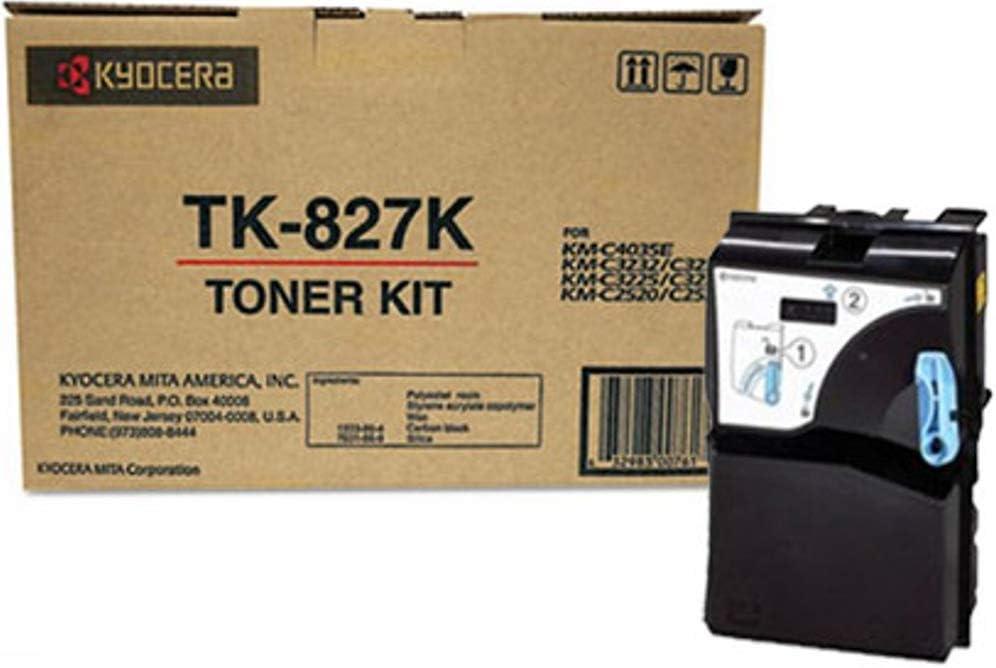 KM-C4035 and KM-C4035E Multifunction Printers Kyocera 1T02FZ0US0 Model TK-827K Black Toner Cartridge For use with Kyocera KM-C2520 KM-C3225 KM-C2525 KM-C3232 KM-C3225E KM-C2525E KM-C3232E