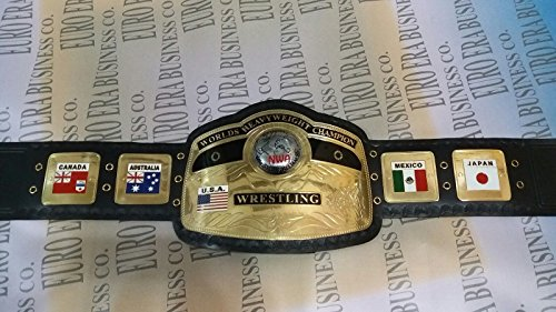 New Replica NWA Championship Belt Adult Size Metal Plates With Bag (Nwa Replica Belt)