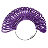 Ownsig 27 Pieces Ring Gauges Finger Sizer Measuring Ring Tool, Size 1-13 with Half Size (Purple)