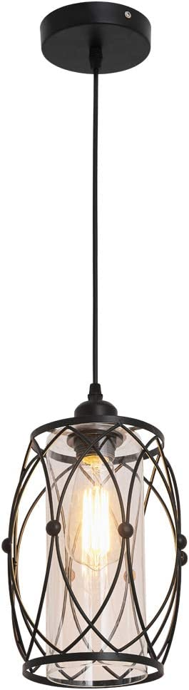 Pendant Lighting Fixture Modern Farmhouse Glass Chandelier Hanging Light - -